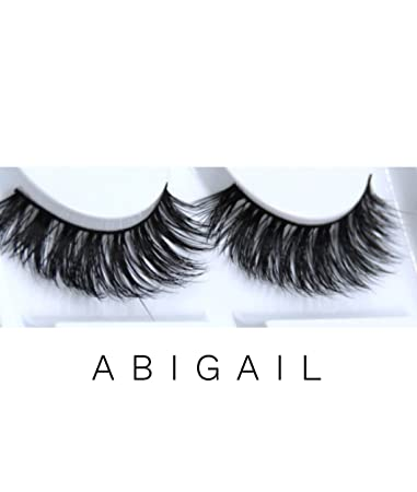 009350215d8 Amazon.com : LAUREN ADORN Premium Faux Mink Lashes | Style: Abigail | 3D  Beautiful Wispy Eyelashes | Cruelty-Free and Vegan : Beauty