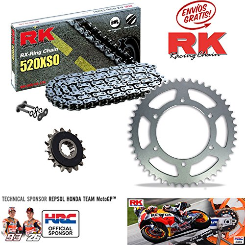 Kit de Cadena RK Kawasaki Z750 2004-14 15-43/112 RK CHAINS- JT SPROCKETS