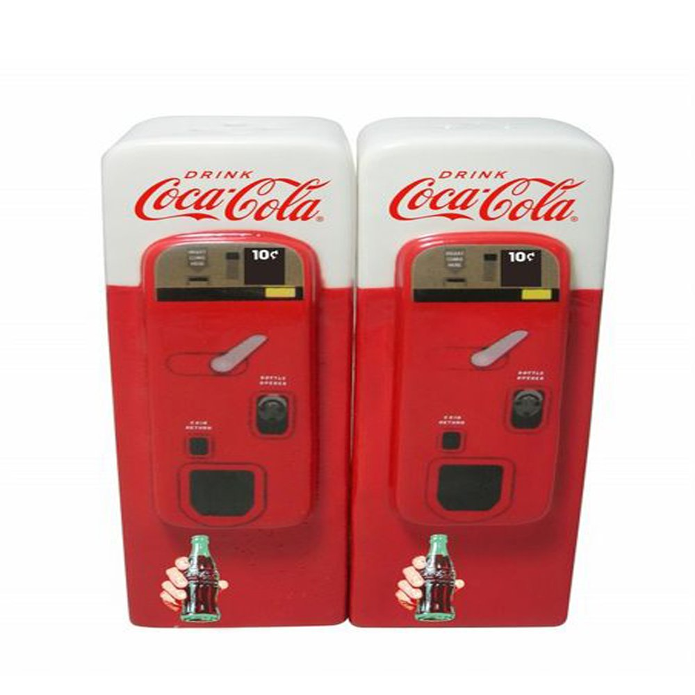 Coca-Cola Vending Machine Salt and Pepper Shaker Set
