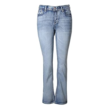 f2dac9c6440 MSSHE Women s Plus Size Vintage Stretchy High Waisted Skinny Little-Flared  Jeans