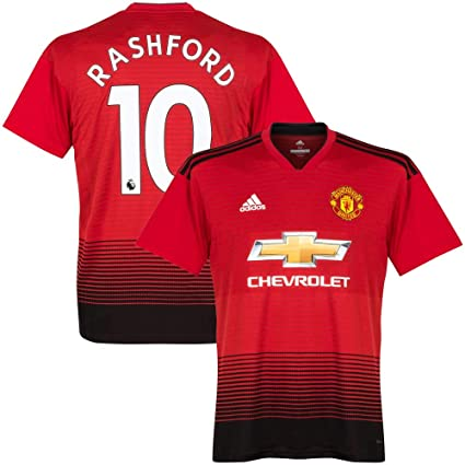 5eadfbd45aa adidas Manchester United Home Rashford 10 Jersey 2018/2019 (Authentic EPL  Printing) -
