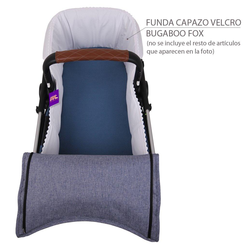 Acolchada - 100/% Algod/ón Funda Capazo Velcro Bugaboo Fox GRIS MELANGE Tititnins/®