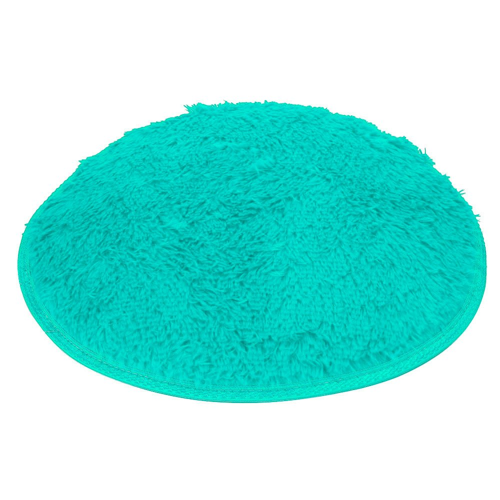 Clearance Tuscom Coral Fleece Round Rug Non-Slip Mat for Soft Bath Bedroom Floor Shower(10 Colors) (Blue)