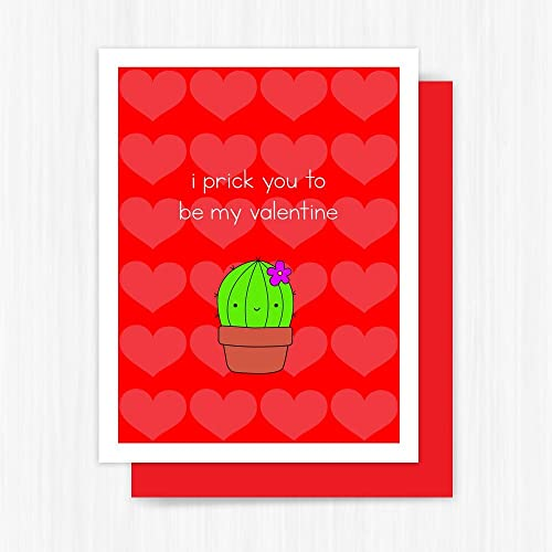 Amazon Funny Valentine Card Cute Cactus Love Pun Handmade – Funny Be My Valentine Cards