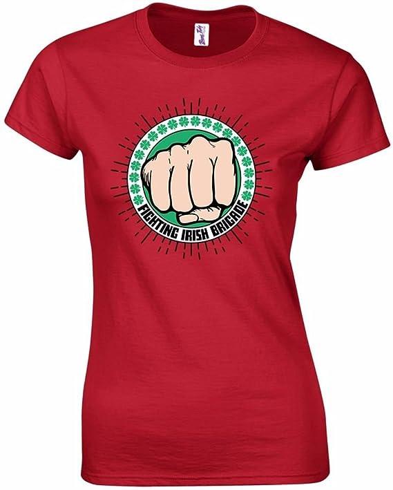Fighting Irish Brigade St Patricks Day Funny Men/'s T Shirt