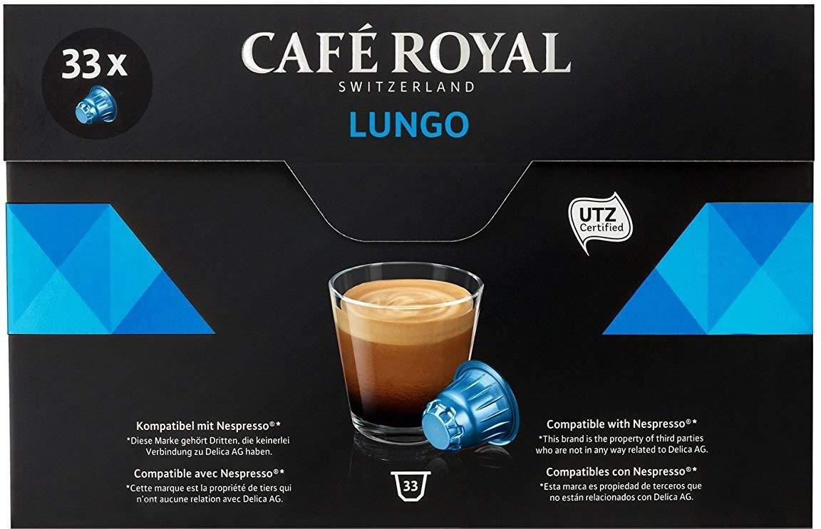 Café Royal Lungo 33 Nespresso kompatible Kapseln, 1er Pack (1 x 33 Kaffeekapseln)