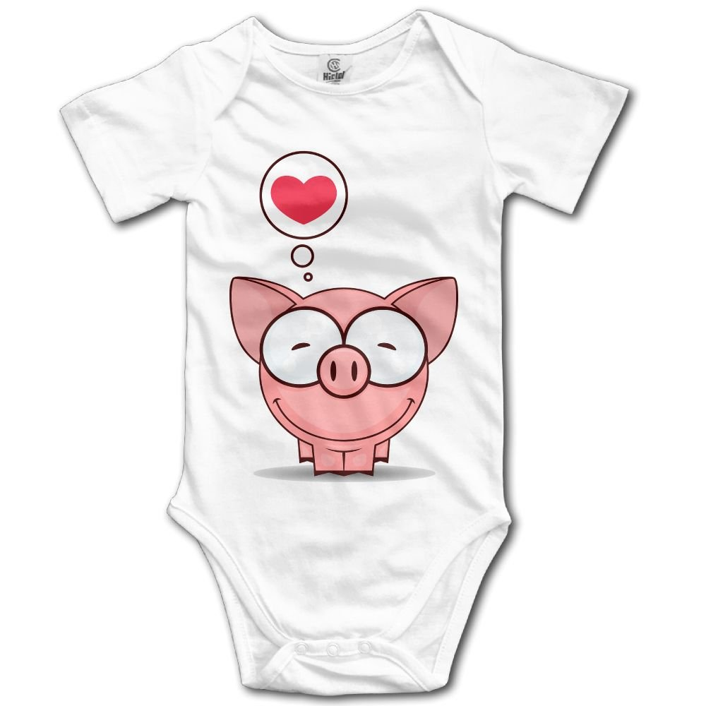 Baby Climbing Clothes Romper Cute Cartoon Pig Infant Playsuit Bodysuit Creeper Onesies White