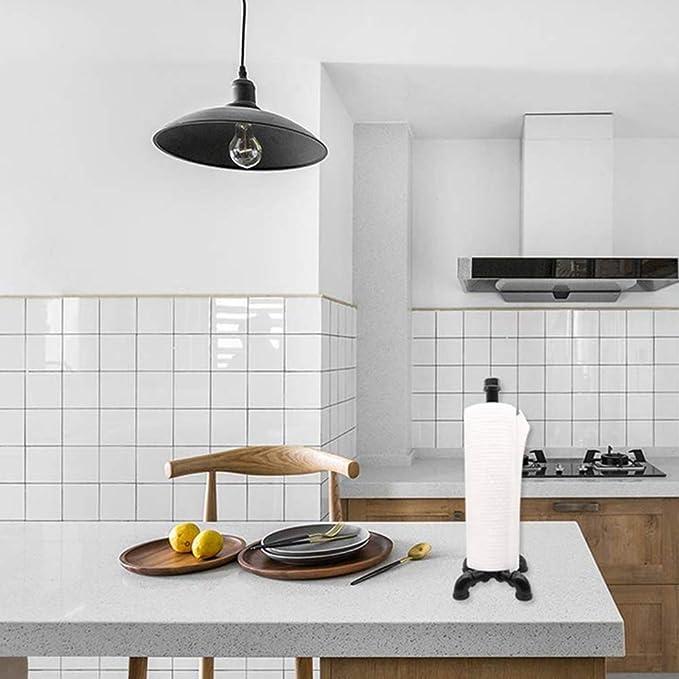 DZBMY Portarrollos de Cocina Toalla de Papel de Tubo Vertical Industrial, encimera de Soporte de Toalla de Papel de Cocina para Cocina y baño, Rollo fácil de rasgar: Amazon.es: Hogar