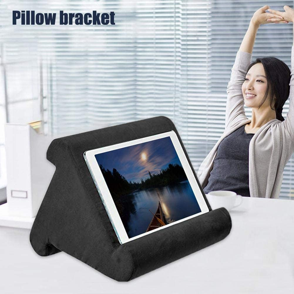 Magazines Books Tablets eReaders Automotor Multi-Angle Tablet Stand Soft Pillow Holder Reading Pillow for iPads Wine Red Smartphones