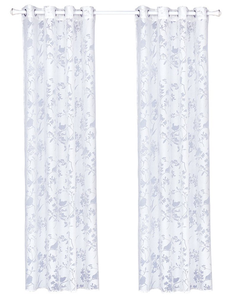 1 Panel Sheer Voile Window Curtain Drapery Grommet Top Ring LivebyCare Linen Room Windows Treatments Drapes for Family Room Hotel