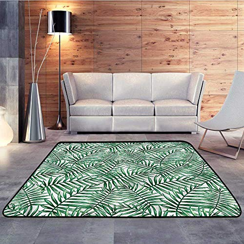 "Bathroom mats and Rugs,Leaf,Rainforest Vegetation FreshW 78.7"" x L94 Bathroom Rug Kitchen Carpet"