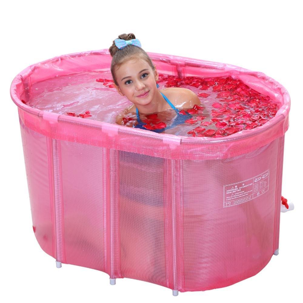 Pink Oval Bathtub Bathtub Oval Double Bathtub Stainless Steel Bracket Bathtub