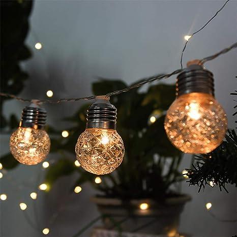 Image Unavailable - Amazon.com : Yezijin Solar Pineapple Light String Light Bulb Round