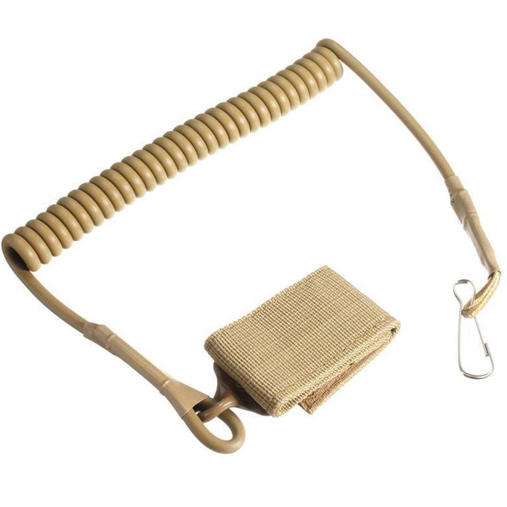 Silbato Longsonk Tarjetas de identificaci/ón y Pistola Negro Cord/ón Ajustable el/ástico Multiusos para Guardar Llaves