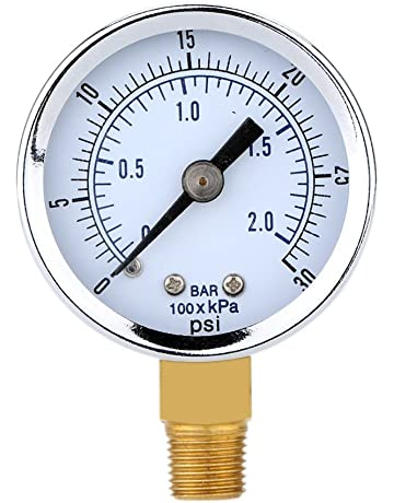 vbncvbfghfgh Pratico manometro per Piscina con Filtro Spa Mini 0-60 PSI 0-4 Bar Lato Montaggio 1//4 Pollici Filettatura Tubo NPT TS-50