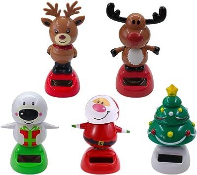 Solar Powered Dancing Bobble Head Toy New for 2019 CHRISTMAS SANTA