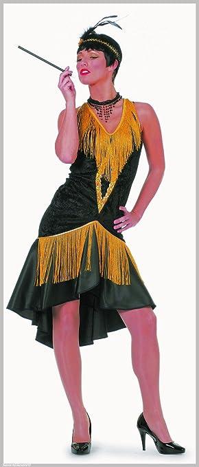 Stekarneval - Disfraz de charlestón para mujer, talla UK 14-16 ...