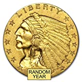 1908 - 1929 $2.50 Indian Gold Quarter Eagle AU (Random Year) $2.50 About Uncirculated