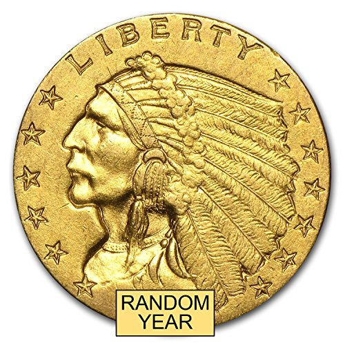 (1908-1929 $2.50 Indian Gold Quarter Eagle AU (Random Year) $2.50 About Uncirculated)