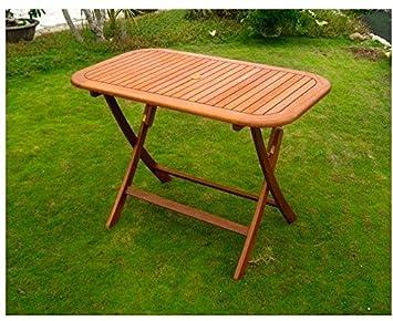 Mesa de jardín Plegable de Madera Rectangular 120 x 70 cm Vigo