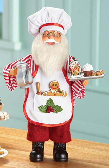 amazon com santa baking tabletop decoration by collections etc