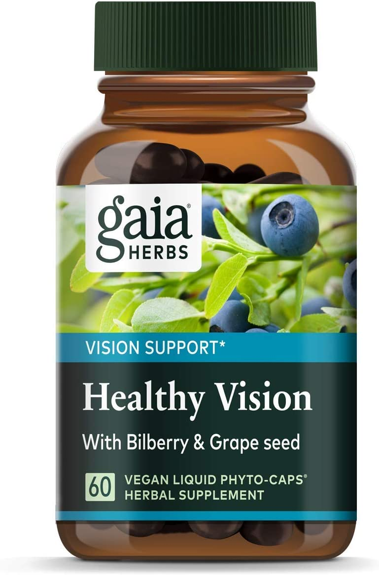 Gaia Herbs Vision Enhancement Liquid Phyto-Capsules, 60 Count