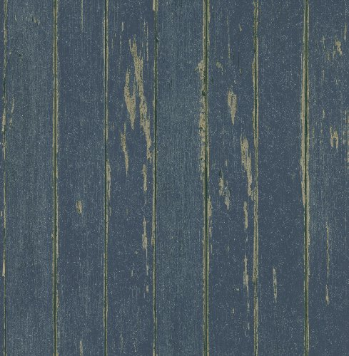 Brewster 145-62606 Northwoods Lodge Yarmouth Dark Blue Rustic Wood Paneling Wallpaper - Dark Blue Wallpaper