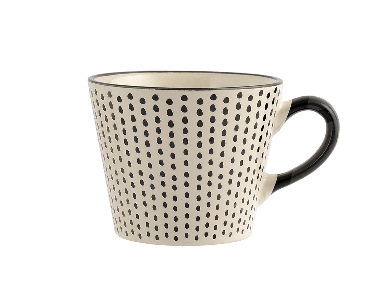 Stoneware 6/Units H/&H vhera Set Jumbo Mugs White//Black