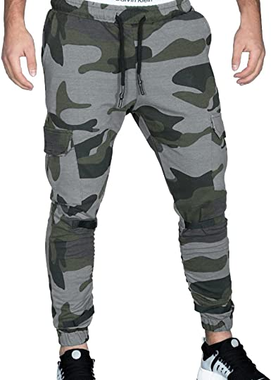 Pantalones Hombre Chandal Pantalon Deporte Hombre Casual Elástico ...