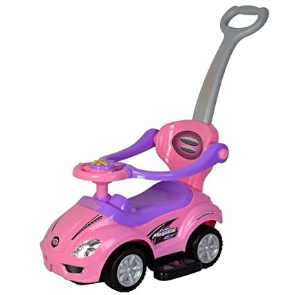 amazon com wondertech 2 in 1 ride on toys pushing car with