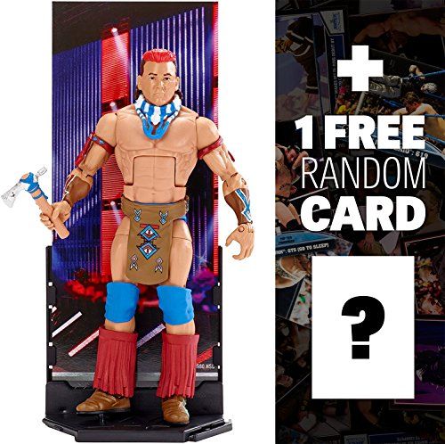 Tatanka: WWE x Elite Collection Action Figure + 1 FREE Official WWE Trading Card Bundle #47A (DXJ10)