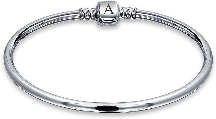 Charm bracelet .925 Sterling Silver bracelet by AMERICAN SILVER Diamond Pattern