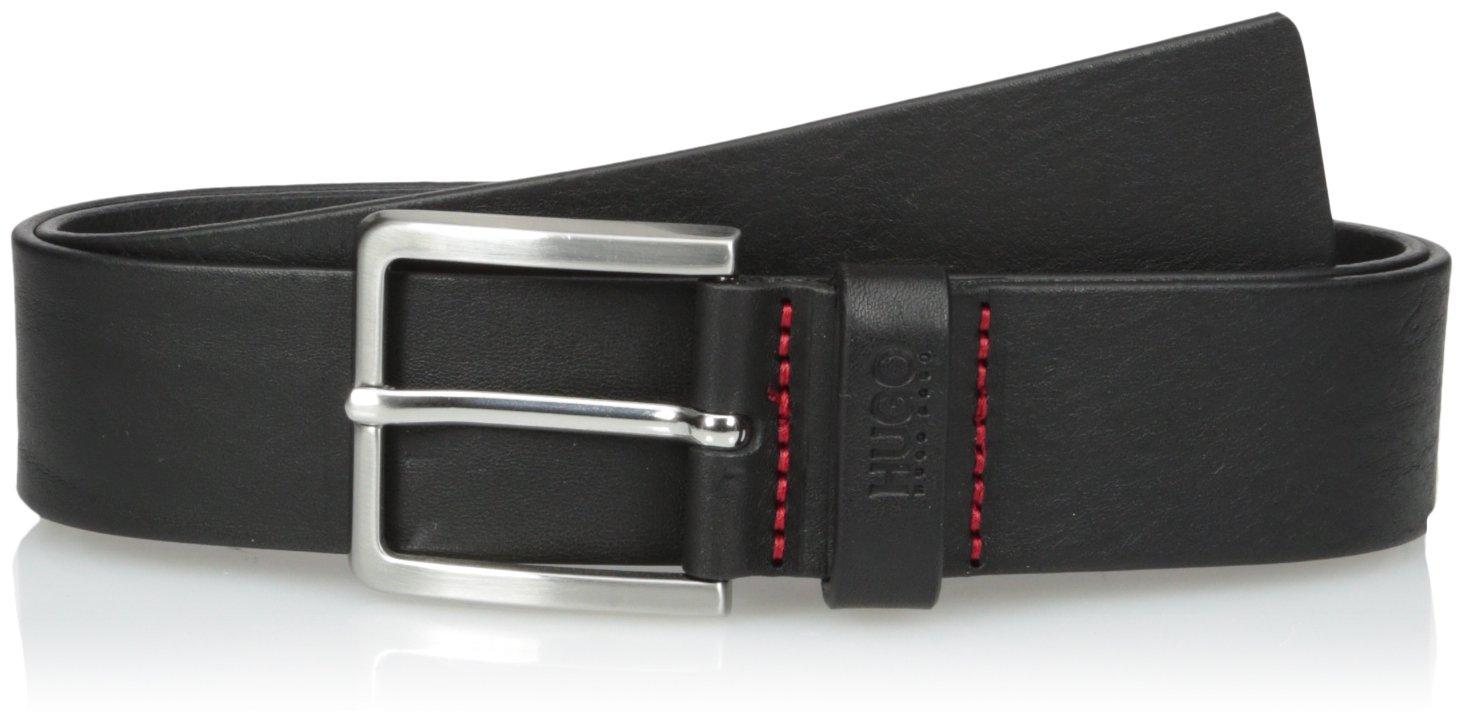 HUGO by Hugo Boss Men's Gionios Italian Leather Belt, black 36