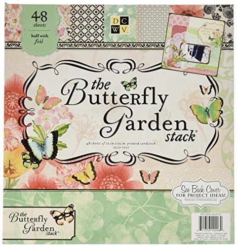 Die Cuts With A View 48-Sheet Premium Stack, 12-inches by 12-inches, Butterfly Garden from Die Cuts With a View