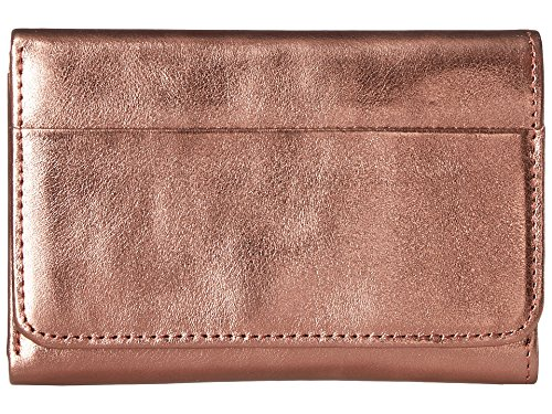 Bronze Womens Wallet - Hobo Women's Jill Trifold Wallet Burnt Bronze One Size