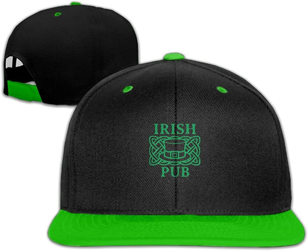 Humaoe Irish-Pub-Logo Fashion Peaked Baseball Caps//Hats Hip Hop Cap Hat Adjustable Snapback Hats Caps For Unisex