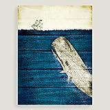 """Blue Whale Canvas Wall Art24""""W x 1.5""""D x 32""""H"""