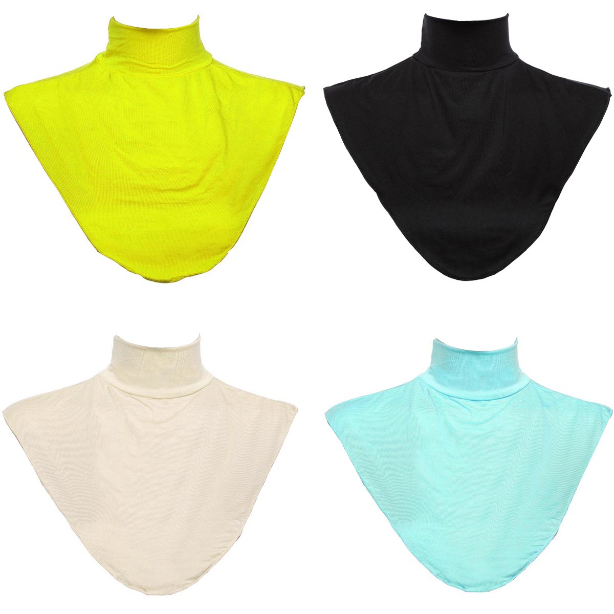 GladThink 4 X Womens Muslim Modal Fake Collar Hijab Extensions Neck Cover Set No.7