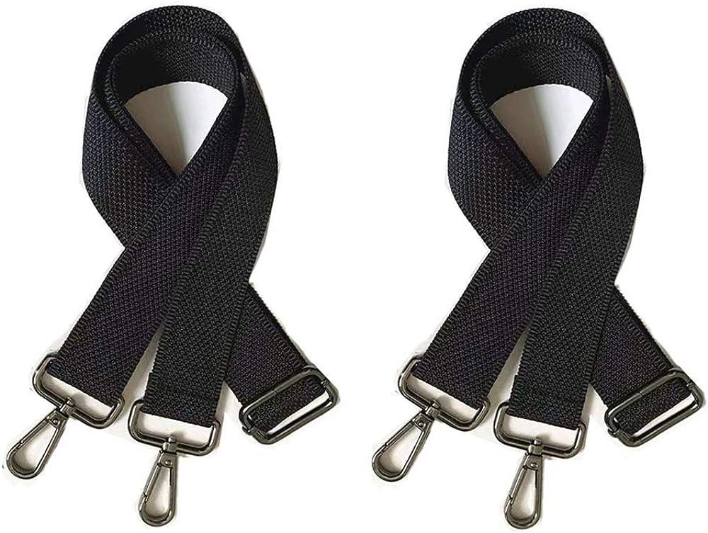 Sac bandouli/ère ajustable universel Bandouli/ère de rechange r/églable en cuir avec crochets pivotants en m/étal Sangle de Rechange de Cuir Anses Accessoire DIY Shoulder Bag Strap(2 pi/èces)
