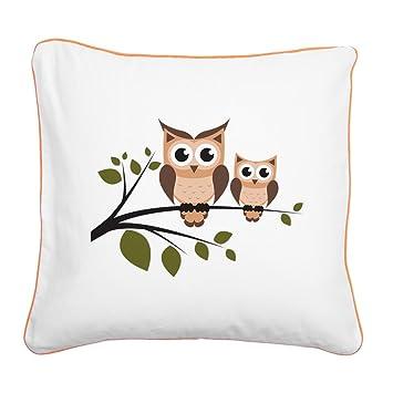 Amazon.com: CafePress - Almohada con diseño de búho, color ...