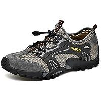 Hombre Senderismo Zapatos Ligeros Transpirables Al Aire Libre Sandalias de Malla Secado Rápido Entrenamiento Descalzo…