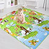 【Ideal Gift for Baby】Baby Child Crawling mat 2 Side Kids Playing Gym Mats Care Play Mat Crawl...
