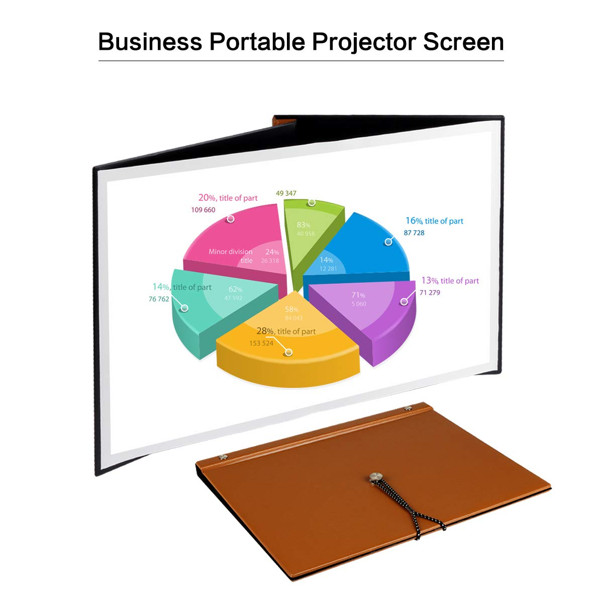 Business Portable Projector Screen Mileagea 20 inches 4:3 Mini Portable Folding Projection Screen for Commercial Session Meeting Office Presentation Teaching Camping Indoor Outdoor