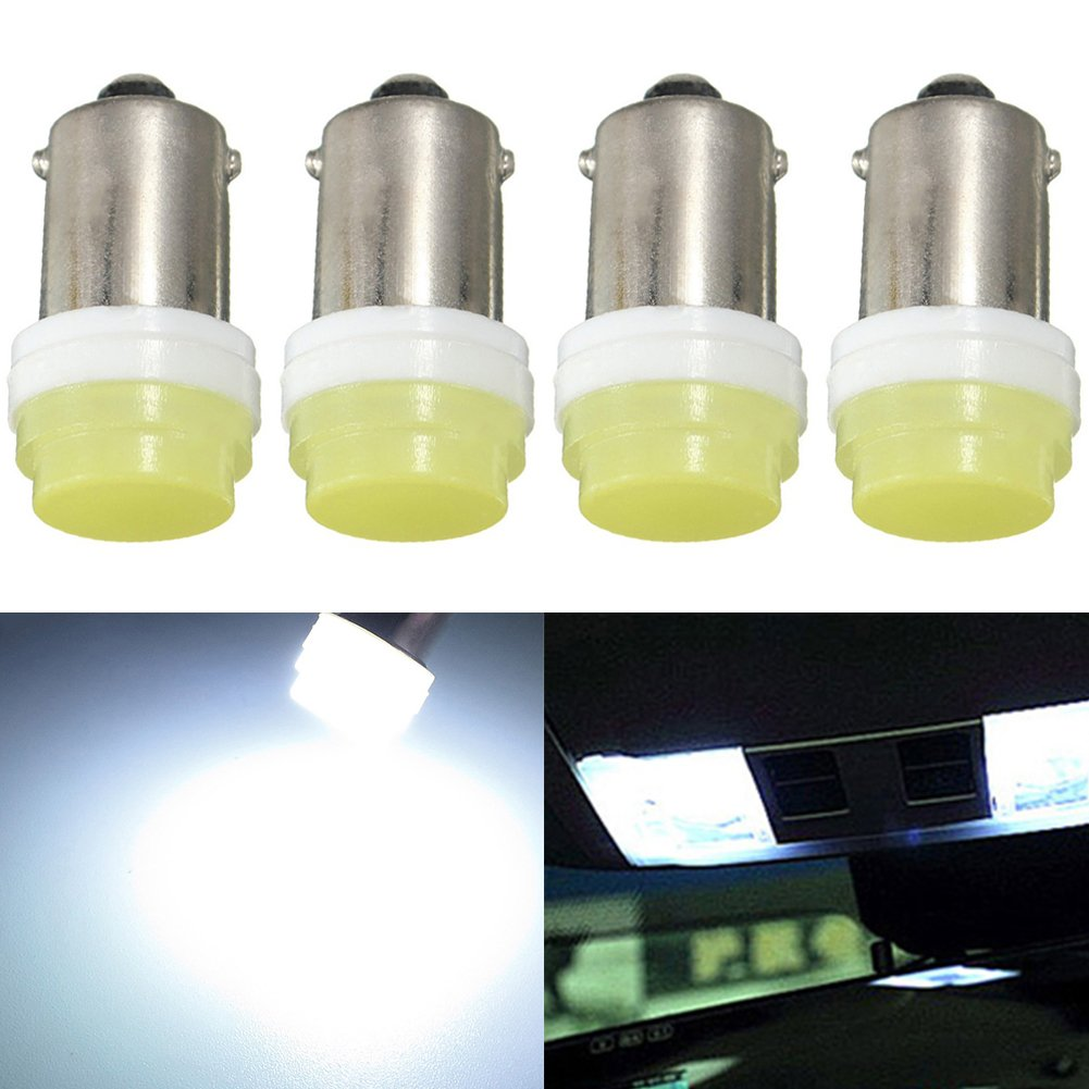TABEN BA9 BA9S 53 57 1895 64111 White 1W Car Vehicle Super Bright BA9S LED Bulbs Used For Side Door Courtesy Lights Map Lights (Pack of 10)