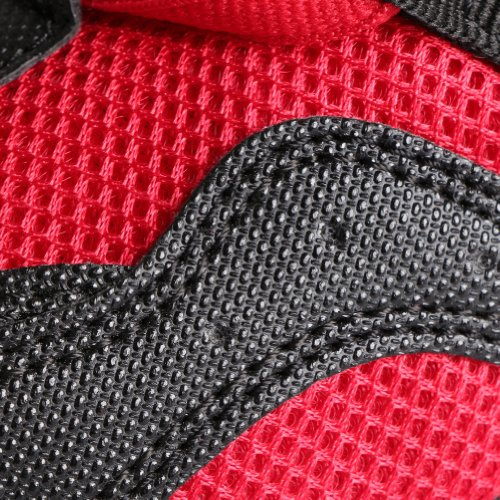 Free Fisher Zapatos de Danza Baile de Tango Jazz Hip Hop Zapatos Deportivos para Mujer negro rojo