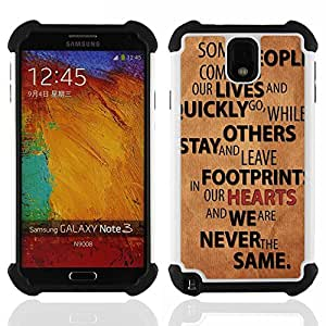 For Samsung Galaxy Note3 N9000 N9008V N9009 - Relationships People Quote Love Life Change /[Hybrid 3 en 1 Impacto resistente a prueba de golpes de protecci????n] de silicona y pl????stico Def/ - Super Ma