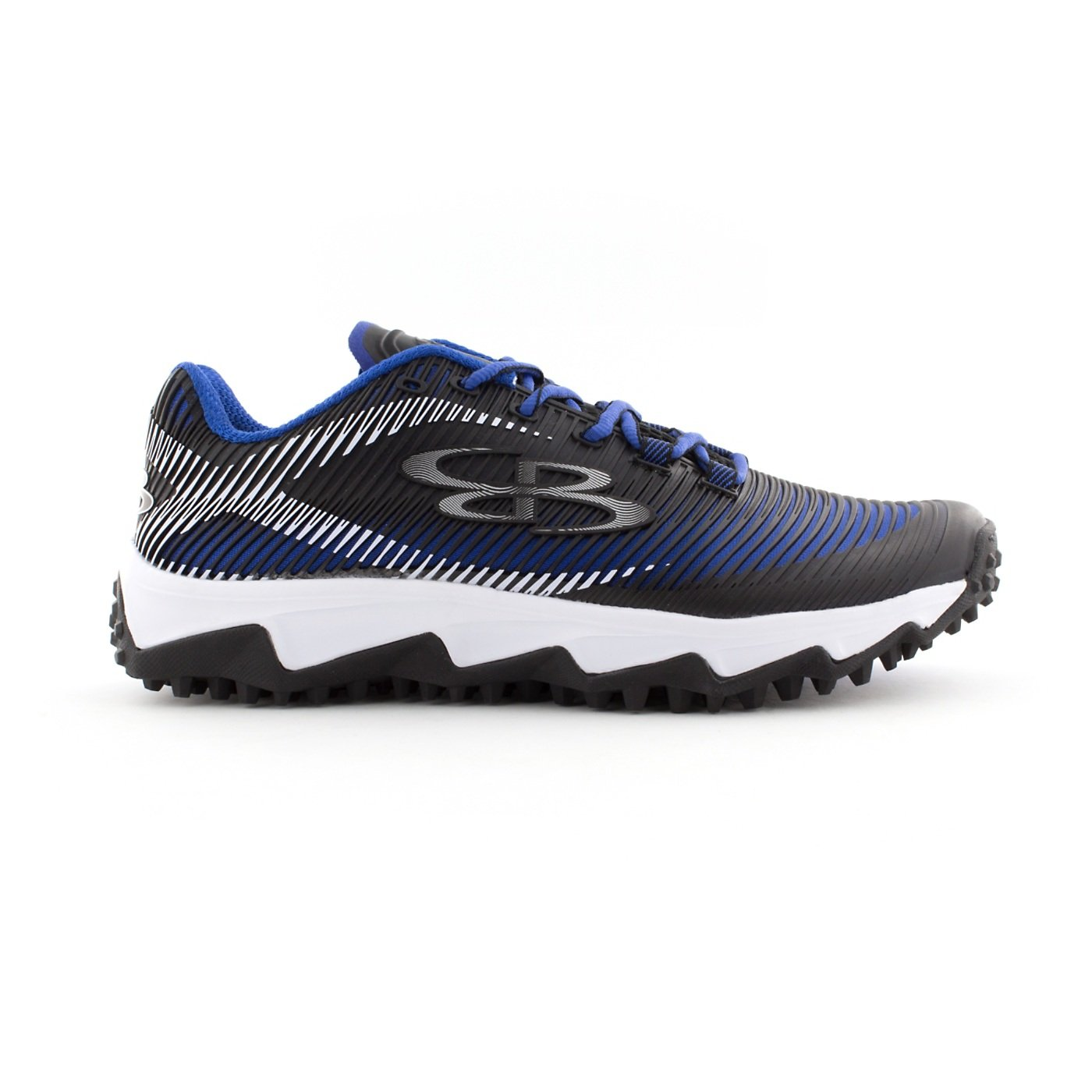 Boombah Men's Aftershock DPS Turf Shoes - 18 Color Options - Multiple Sizes B0767PLGTL 14|Black/Royal