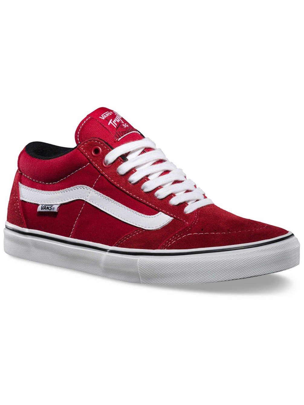 3b8d40532b Vans TNT SG Scarlet Red White Mens Sneakers (6.5 Mens) free shipping ...