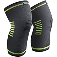 Sable Knee Brace Support Compression Sleeves, 1 Pair FDA...