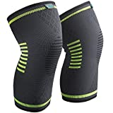 #2: Knee Brace Support Compression Sleeves, Sable 1 Pair FDA Registered Wraps Pads for Arthritis, ACL, Running, Pain Relief, Injury Recovery, Basketball and More Sports